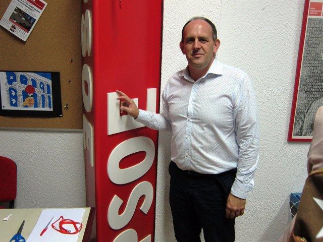 El Secretario General Electo Del PSOE De Segovia, José Luis Aceves