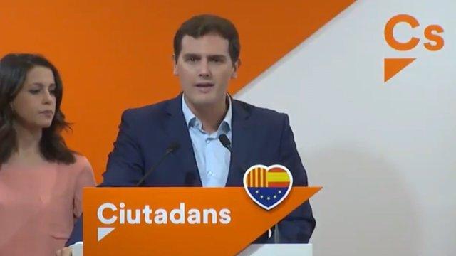 """Rivera califica el 1-O como """"golpe de Estado"""""""