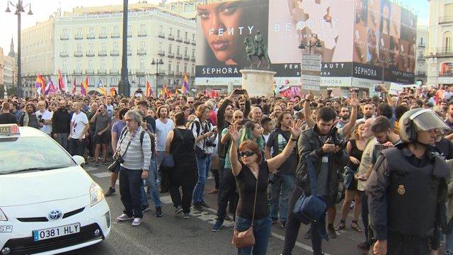 Concentración en apoyo a Cataluña