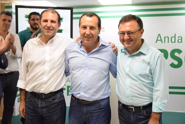 Rafael Fuentes, José Luis Ruiz Espejo y Miguel Ángel Heredia