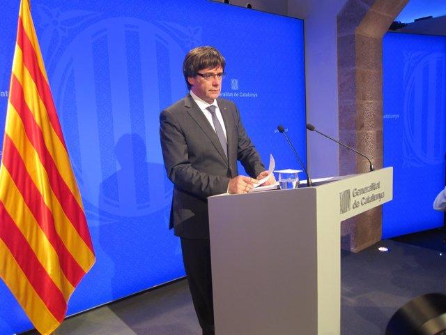 El presidente de la Generalitat, C.Puigdemont