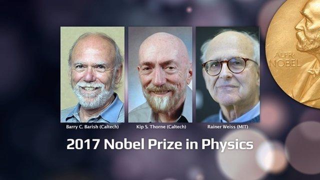 Premiados con el Nobel de Física 2017
