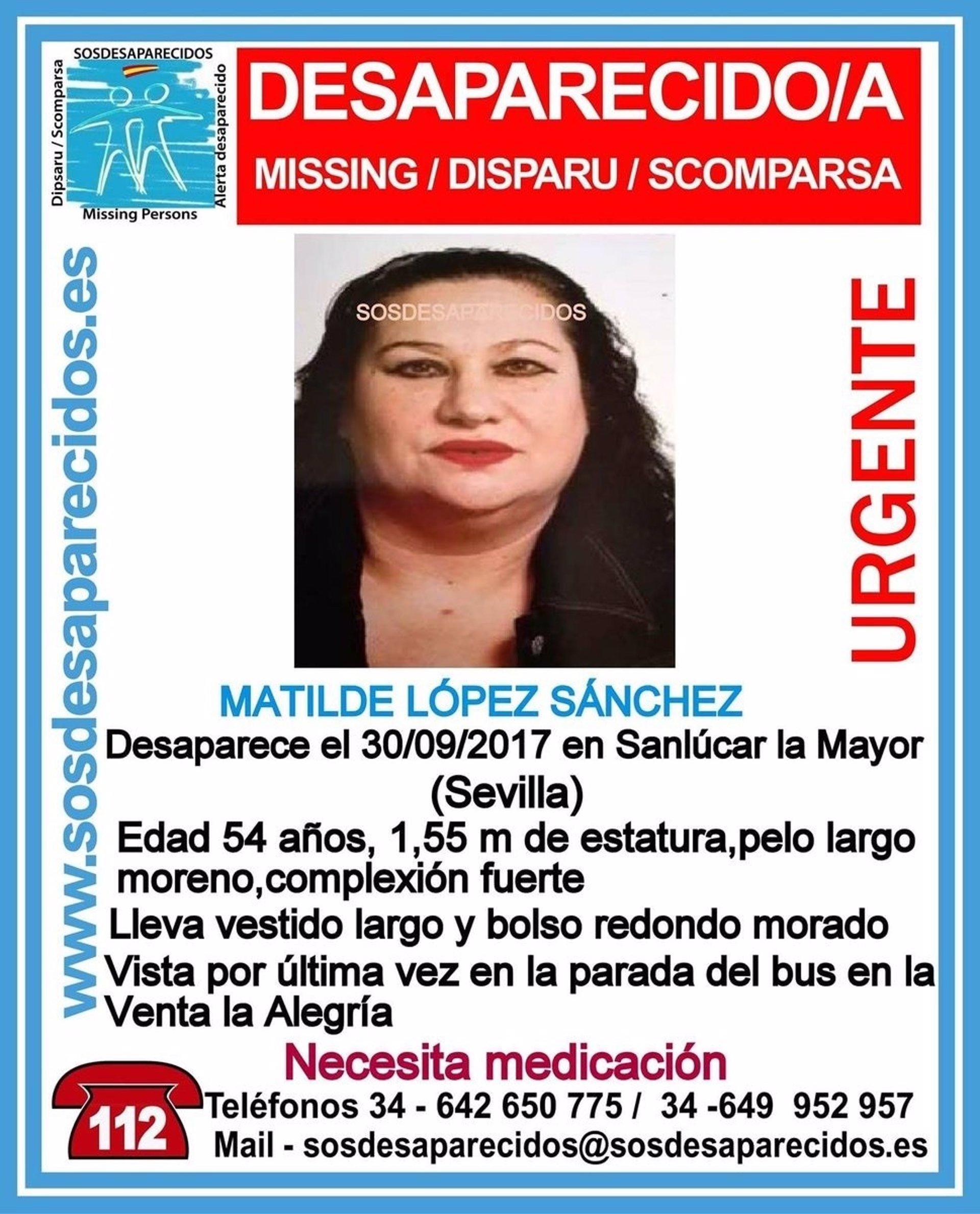 sevilla 54 En La Desaparece Mujer De Años Mayor Una Sanlúcar CxqzvS 486c9cccdd9