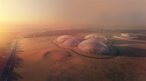Dubái Emiratos Árabes Unidos ciudad espacial Marte impresión 3D