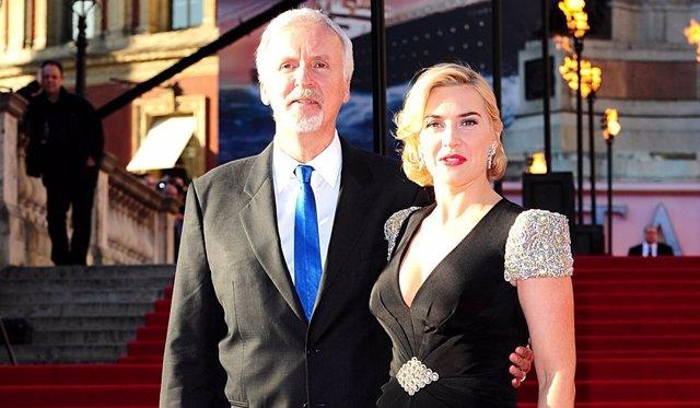 James Cameron y Kate Winslet