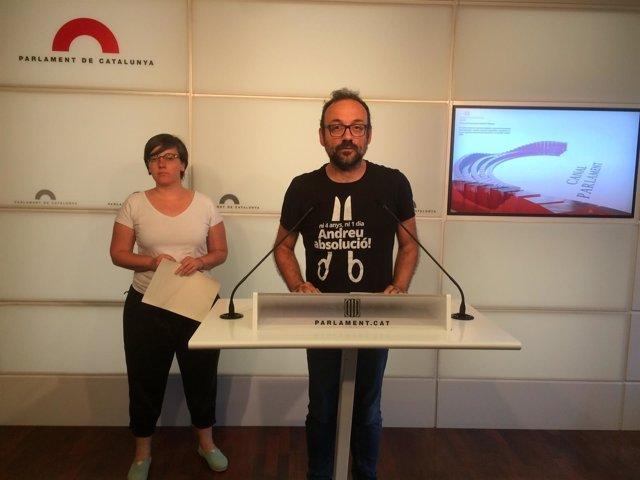 Benet Salellas y Mireia Boya (CUP)