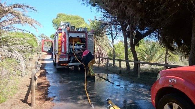 Incendio en Guardamar