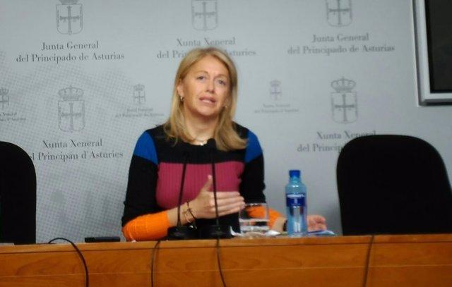 Cristina Coto en rueda de prensa.
