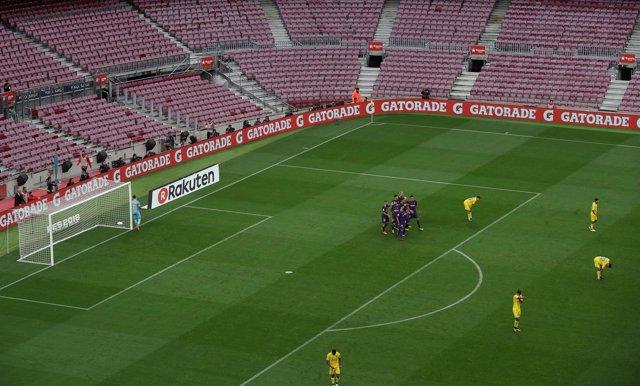 Camp Nou vacío en el Barcelona-Las Palmas del 1-O