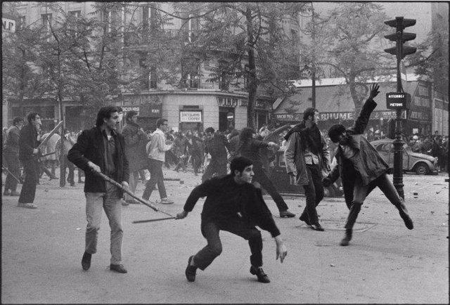 FRANCE. Paris. May 6th 1968. 6th arrondissement. Boulevard Saint Germain. Studen