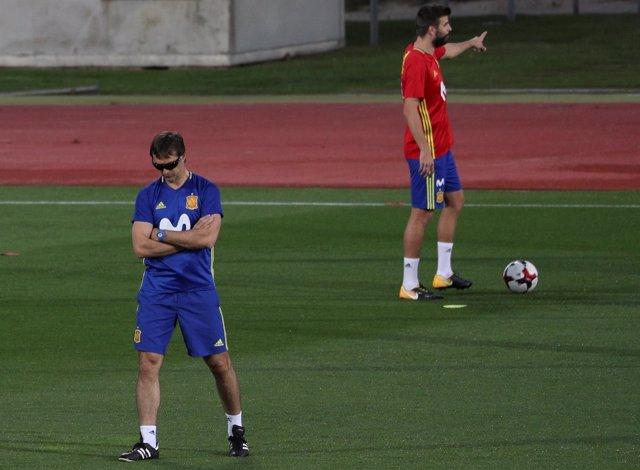 Julen Lopetegui Gerard Piqué selección española