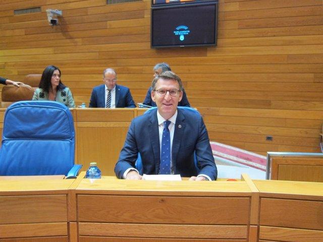 El presidente de la Xunta en el Debate sobre el Estado de la Autonomía 2017.