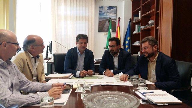 Reunión entre la Consejería de Medio Ambiente y Ayuntamiento de Málaga