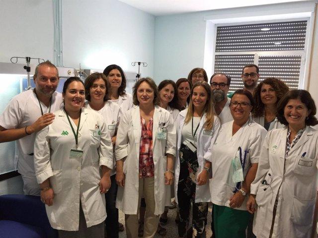 El equipo del Puerta del Mar dedicado a linfomas