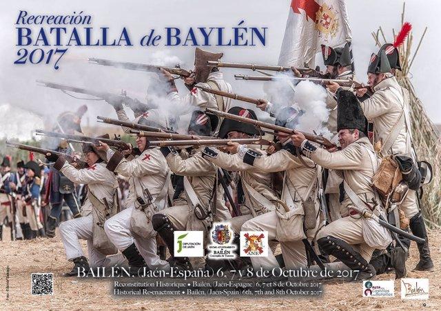 Cartel de la Recreación de la Batalla de Bailén 2017.