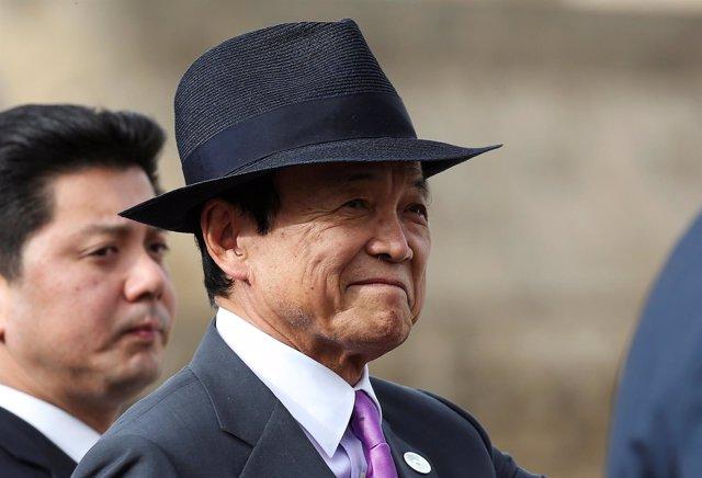 El ministro de Finanzas de Japón, Taro Aso.