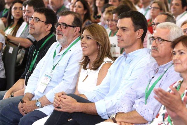 José Rodríguez de la Borbolla, Susana Díaz y Pedro Sánchez