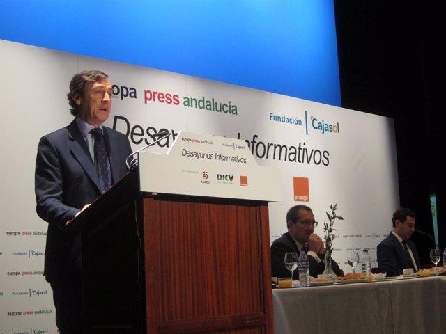 Rafael Hernando, en el Desayuno Informativo de Europa Press
