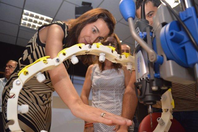 Nuria Fuentes, visita las instalaciones