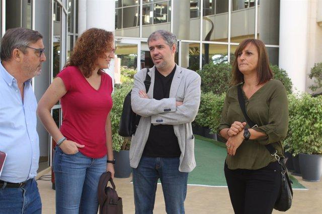 Alfonso Vidán, Nuria López y Unai Sordo.