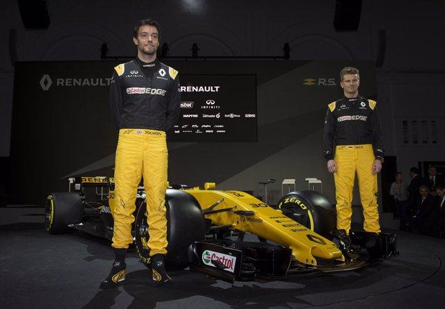 Palmer y Hulkenberg presentan el nuevo Renault