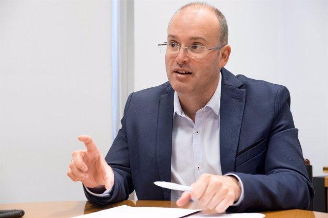 El secretario general del PPdeG, Miguel Tellado, en una entrevista