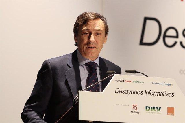 Rafael Hernando, durante el desayuno de Europa Press Andalucía
