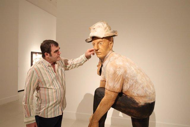 El escultor Francisco Leiro en el CAC Málaga