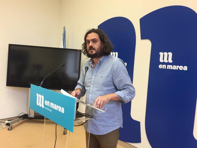 El diputado de En Marea y líder de Anova, Antón Sánchez