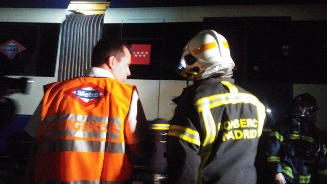 Simulacro de incendio Metro de Madrid