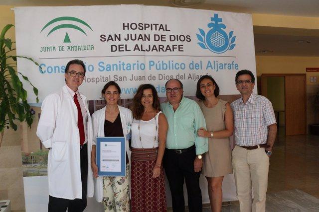 Representantes del servicio de Ginecología del San Juan de Dios del Aljarafe
