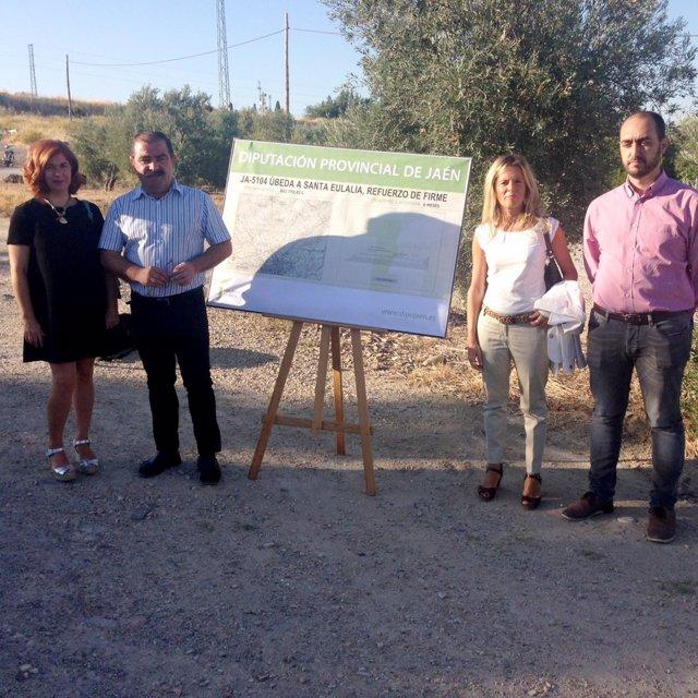 Presentación del proyecto para adecuar la carretera entre Úbeda y Santa Eulalia.