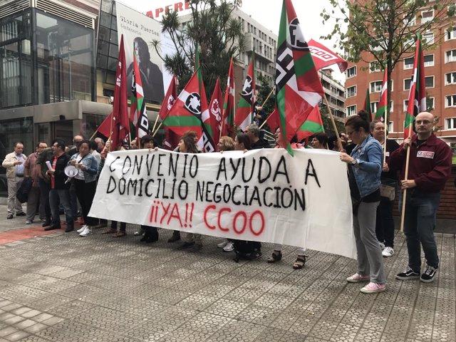 Concentración de CC.OO.  En Bilbao