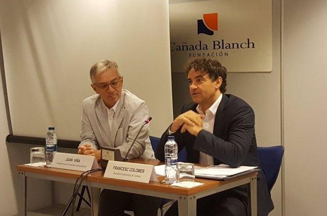 Francesc Colomer y Juan Viña