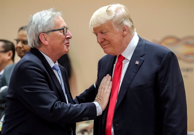 Donald Trump y Jean-Claude Juncker