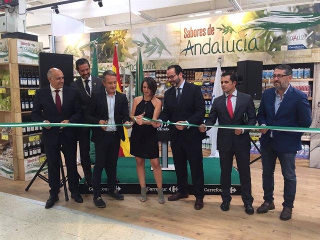 Inauguración de 'Sabores de Andalucía' de Landaluz en Carrefour.