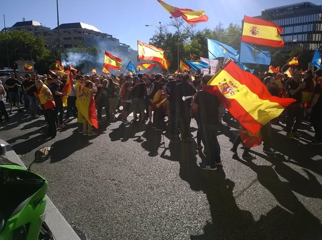 Policías en Madrid