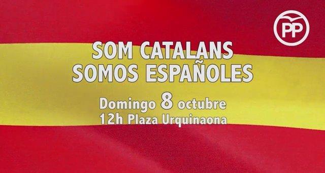 Vídeo del PP catalán en el que llama a defender la unidad de España