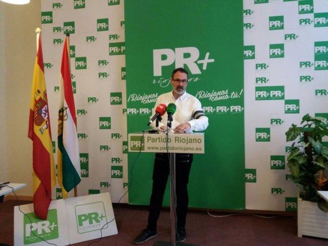 El presidente del Partido Riojano, Rubén Antoñanzas
