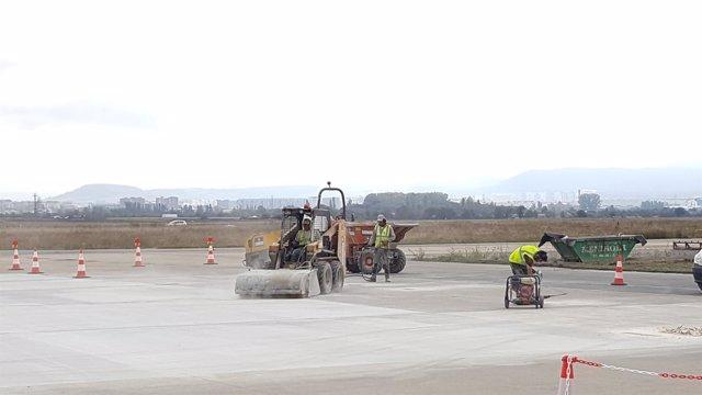 Obras en el Aeropuerto de Foronda