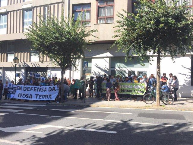 Protesta contra la ley de fomento empresarial