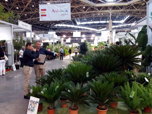Empresas andaluzas en Iberflora de Valencia.