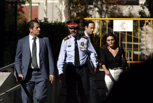 Trapero sale de la Audiencia Nacional tras declarar por sedición