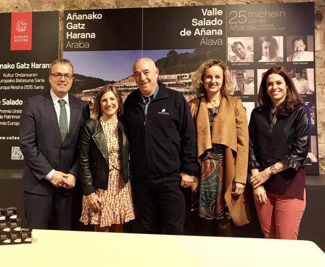 Visita de la delegación de Cádiz a Salinas de Añana