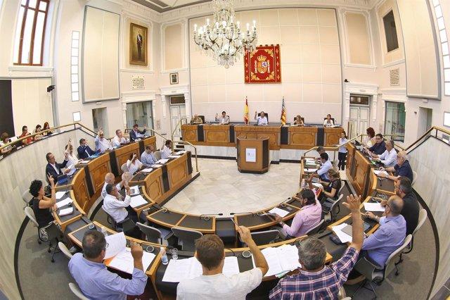 Salón de plenos de la Diputación, imagen de archivo