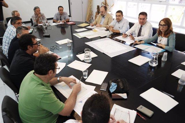 Espadas, en la reunión de la comisión técnica de Lipasam