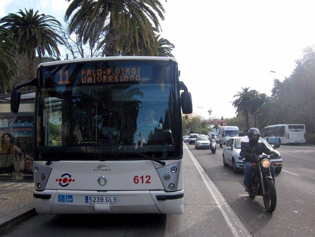 Autobus de la EMT Empresa Malagueña de Transportes