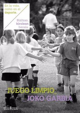 Cartel de la campaña del Plan de Acción de Valores del Deporte