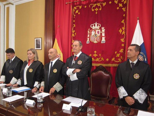 Astor Landete, en la apertura del curso judicial
