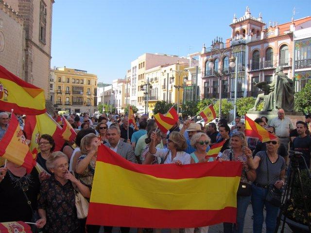 Concentración en Badajoz